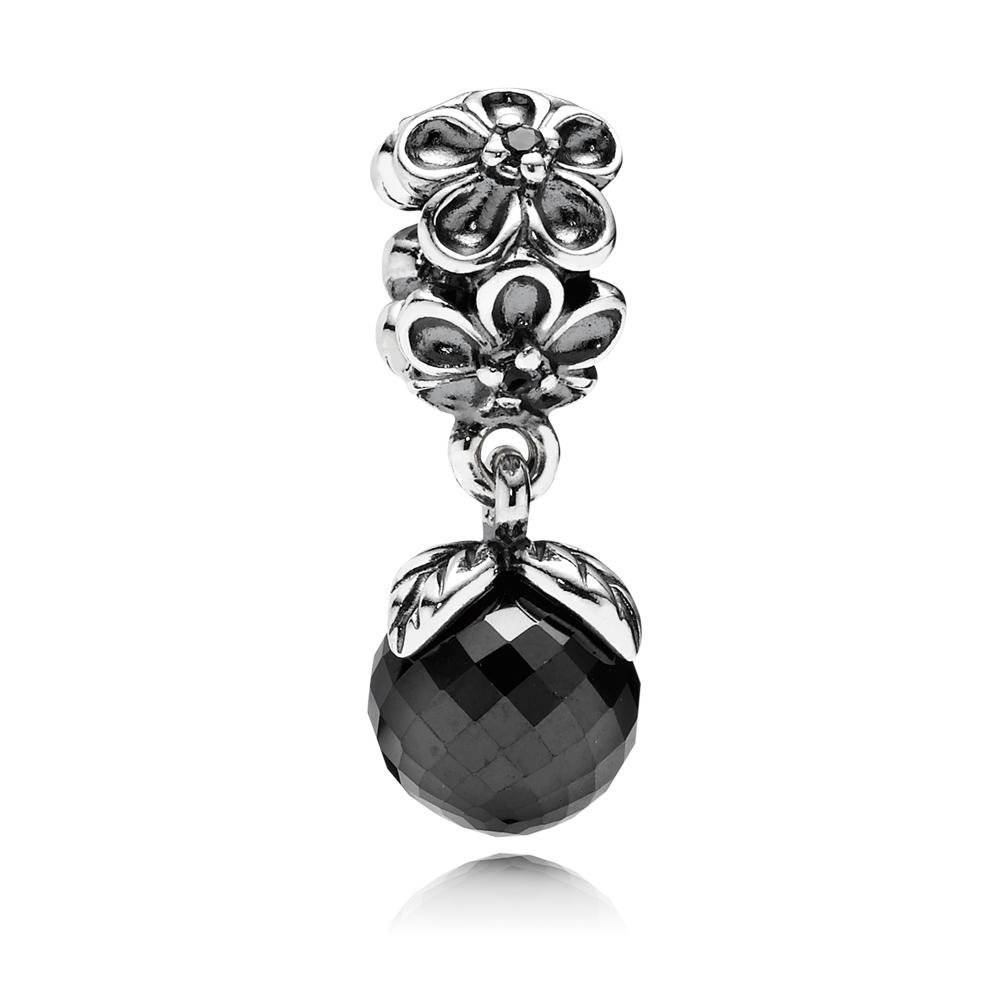 Pandora Bedel Met Hanger Van Zwart Kristal 790858spb