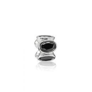 925 sterling zilver / zwarte zirkonia