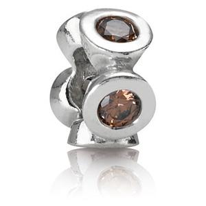 925 sterling zilver / lichtbruine zirkonia