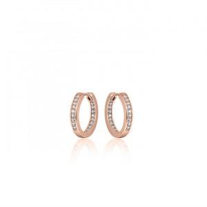925 sterling zilver, rose plated / zirkonia