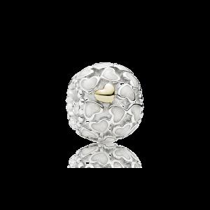 925 sterling zilver / 14 karaats goud