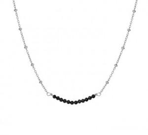 925 sterling zilver / zwarte strass