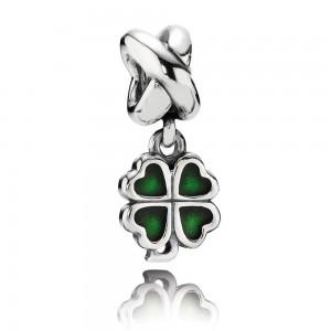 925 sterling zilver / groen emaille