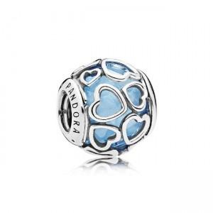 925 sterling zilver / blauwe zirkonia