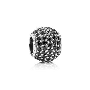 925 sterling zilver / zwart kristal